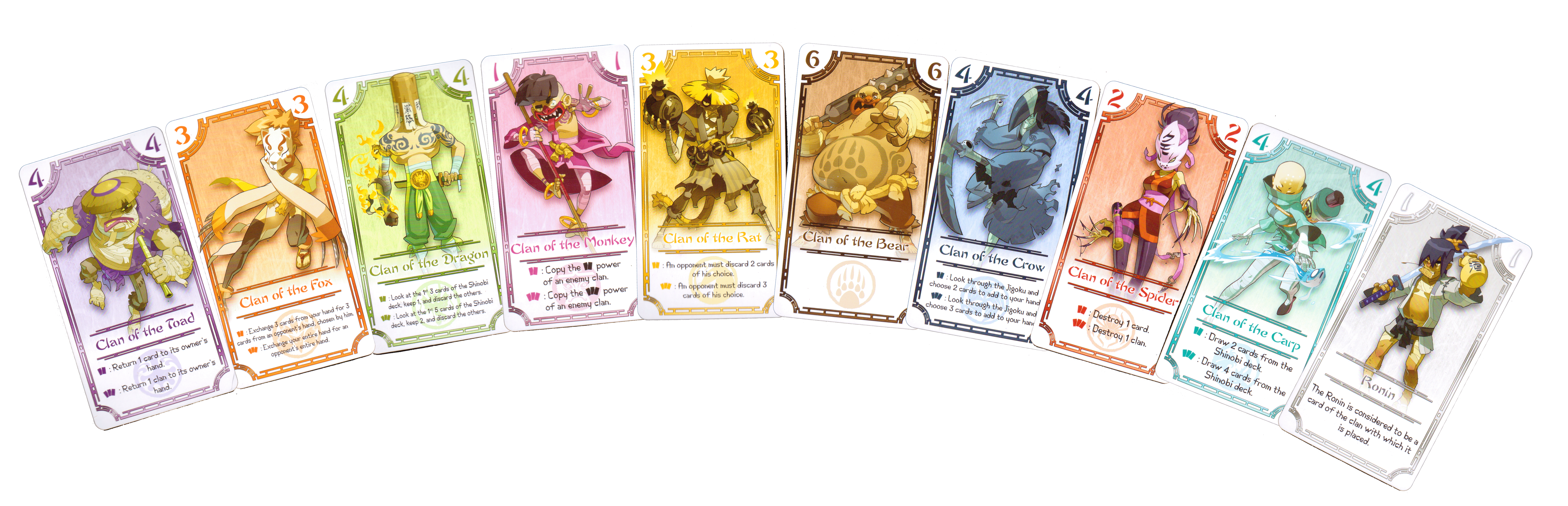 Exemplar Clan Cards (with wild Ronin)